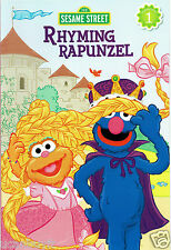 RHYMING RAPUNZEL A Sesame Street Reading Level 1 Beginners Book Ages 5-7 Gr K+