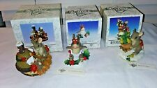 3 Charming Tails Figurines First Day Christmas-Littlest Reindeer-Stockings We