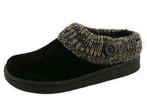 CLARKS WOMEN'S ANGELINA KNITTED COLLAR WINTER CLOG SLIPPERS