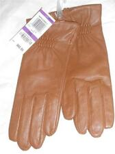 Ladies Charter Club Genuine Leather Gloves,Saddle,XXL-See Description for Pics