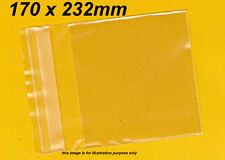 100 Clear Plastic Bags Resealable Packaging 170 x 232mm, Reseal