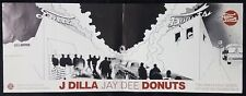 "J DILLA Donuts JAY DEE promo record store poster hip hop 24"" X 9"""