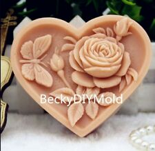 1pcs Camellia with Butterfly (zx184) Silicone Handmade Soap Mold Crafts DIY Moul