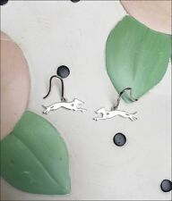 Whippet Sterling Silver Earrings - New - Free Shipping