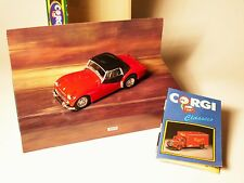 Triumph TR 3 A tr3a Hardtop rot rouge rosso roja red, Corgi Classic 1:43 boxed!