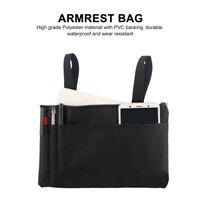 IP64 Waterproof Armrest Bag Durable Wheelchair Shopping Travel Storage Bag Black