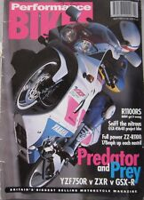 Performance Bikes magazine April 1993 featuring Kawasaki, Ducati, Yamaha, Suzuki
