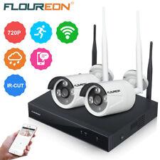 Wireless Outdoor 4CH 1080P NVR 2x WIFI CCTV IR-CUT IP Camera Security System Kit