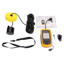 100m Depth Fish Finder LCD Portable Sonar Sensor Alarm Transducer Fishfinder