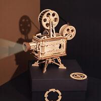 ROBOTIME 3D Puzzle DIY Holz Vitascope Modellbau Kits Film Projektor Spielzeug