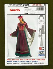 Burda Sewing Pattern 2509 ~ Medieval Lady Of The Castle Costume/Cosplay (10-24)