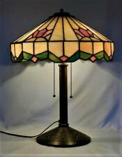 Antique BRADLEY & HUBBARD B&H Lamp~Arts & Crafts~Mission~Leaded Stain Glass~Slag