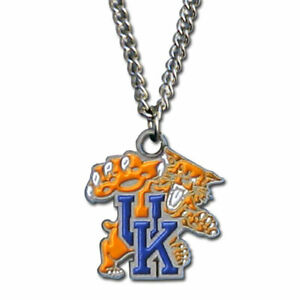 """Kentucky Wildcats 22"""" Chain Necklace Metal Logo Charm NCAA Licensed"""
