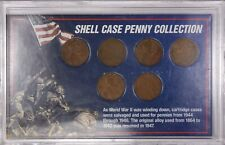 Shell Case Penny Collection - Lincoln Wheat Penny -United States Minted Coin Set