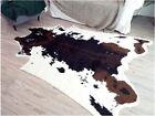 5.6'X7.2' Faux Cowhide Area Rug Large Tricolor Cowskin Cow Hide Leather Carpet