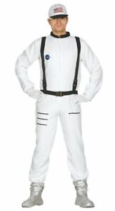Mens Astronaut Costume Spaceman NASA Space Suit Fancy Dress Adults Outfit
