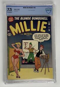 Millie The Model #36 CBCS Graded 7.5 Golden Age Comic Written By Stan Lee!