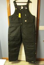 Carhartt Extremes Yukon Arctic Quilt Lined Zip to Waist Bibs R33 Black 48 x 32