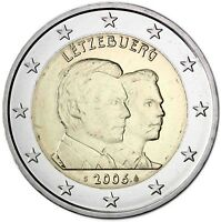 Luxemburg 2 Euro 2006 Gedenkmünze Henri Geburtstag 25 von Guillaume prägefrisch