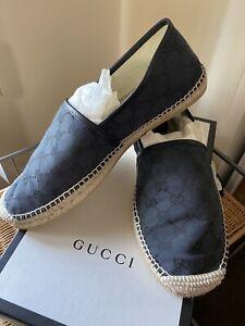 Gucci black  espadrilles mens 11 1/2