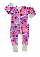 BNWT NEW BONDS Zippy Zippie Girls Baby Wondersuit POPPY ART PINK - size 00 / 3-6