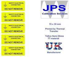Electrical Labels - 10 Safety Electrical Connection  70 x 30mm JPSLABEL13d