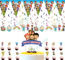 Cocomelon Cake Topper Cocomelon Cupcake Topper Cocomelon Party Hanging Flag