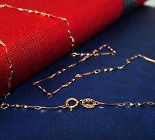 Damen,Herren Bezaubernde Silberkette Rose-Gold, echte Sterling Silber 925, 45 cm