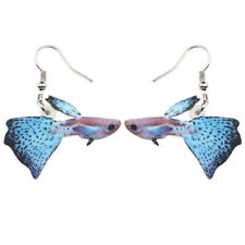 Acrylic Guppy Fish Earrings Drop Dangle Ocean Sea Animal Jewelry For Women Gifts