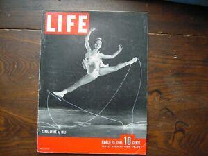 1945 Life Magazine March 26 Carol Lynne Mili WWII Paris B29 Tokyo Tanks Iwo Flag