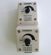 2 pcs lot - low voltage lighting LED dimmer control 12 24 volt DC 8 amp PDM1-2P