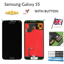 For Samsung Galaxy S5 i9600 Screen Replacement LCD Touch Digitizer + Home Button