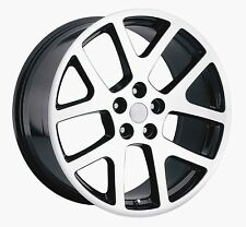22x9 22x10 Stagger Tires Viper Challenger Charger 300C Wheels Set Machine/Black