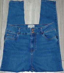 Womens🦋NEW LOOK🦋blue stretch lift&shape skinny denim jeans size 18