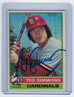 1976 CARDINALS Ted Simmons signed card Topps #290 AUTO Autograhed St. Louis HOF