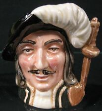 """Nice Royal Doulton Toby Jug Athos 3 Musketeers D6509 2 1/2"""" Tall"""