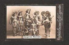 Ogden's Guinea Gold Tobacco Card - Dangerous Musicians - Extreme Caution Needed!