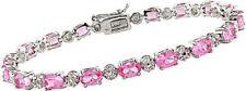 Pink Sterling Silver Fine Bracelets