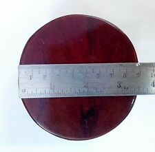 HANDMADE CIRCLE SMALL RED WOOD  SET OF ALTAR TABLE L.9 CM H.5 CM THAILAND