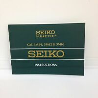 SEIKO KINETIC Original Watch Instructions Manual Booklet Cal. 5M54 5M62 & 5M63