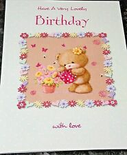 Female Birthday Card by Heartstrings Cards. With Love Theme.