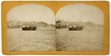 Plage de Scheveningue La Haye Pays-Bas Photo Stereo Th1L8n2 Vintage Albumine