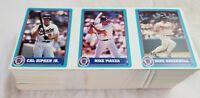 Huge Lot Of 100 Little League Baseball MLB Cards 3-card strips Ripken jr. Piazza