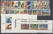 NEDERLANDSE ANTILLEN - JAARGANG 1981 - POSTFRIS COMPLEET