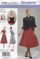 From UK Sewing Pattern Dress  Jacket  1950's  14-22 US #1250