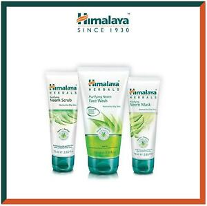 Himalaya Neem Face Wash Gel, Scrub and Mask Combo | Acne Solution | 3pc Set