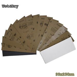 Schleifpapier Wasserfest 60 - 240 Körnung Nass & Trocken chleifpapier 93x230mm