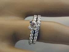 1.85CT DIamond Semi Mount Wedding Ring Set 14K White Gold For 1CT Round Stone