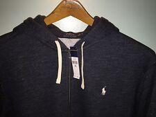 Polo Ralph Lauren Full Zip Fleece Hoodie Carbon Blue Heather 2XL NWT