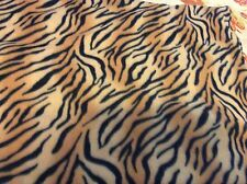 "Tiger stripes print fleece fabric, 60"" by 29"""